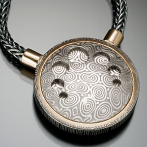 Damascus Flying Marquis Pendant Back