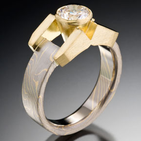 Contemporary Cathedral Setting with .75 Carat Diamond