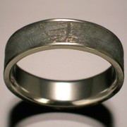 Sirius Meteorite Ring with Platinum