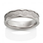 Arcturus Meteorite Ring with Platinum