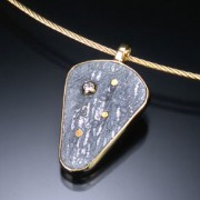 Shield Meteorite Pendant