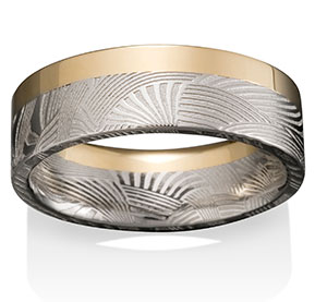 Palms Damascus, 33/66 with 18k Yellow Gold