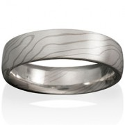 Aspen Mokume in Silver and 14k Pd White Gold