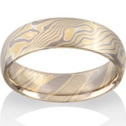 Birch Mokume in 18k Yellow Gold, 18k Pd White Gold and Silver