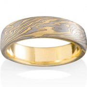 Oak Mokume in 18k Yellow Gold, Pd500 and Silver