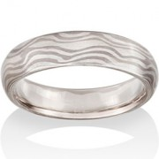 River Mokume in 14k Pd White Gold and Silver