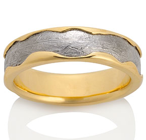 Arcturus Meteorite with 18k Yellow Gold