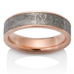 Sirius Meteorite Ring with Platinum